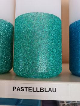 Pastellblau Hauseigener Holoflitter Untergrund für unsere Kerzen!