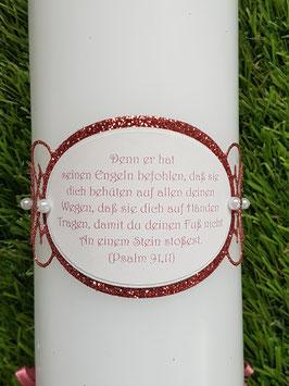 Spruch Ornament gedruckt nach Wahl / Altrosa