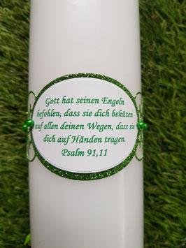 Spruch Ornament gedruckt nach Wahl / Apfelgrün-Grasgrün