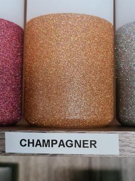 Champagner Hauseigener Holoflitter Untergrund für unsere Kerzen!