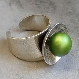 Ring Pappmaché Palmgrün