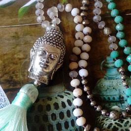 Ibiza Kette Buddha Mintgrün
