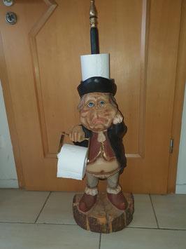 Klo Toilettenmann Papierhalter Ständer Wichtel Deko Gästetoilette witzige Figur