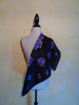 Foulard roses violettes
