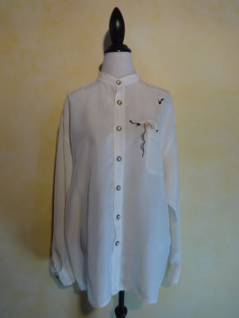 Chemise broderie sexy 80's T.44