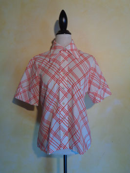 Chemise rayée rouge 70's T.38