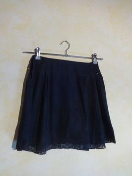 Jupe culotte soie noire 50's T.36