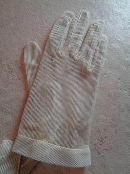 Gants blancs rayés 60's