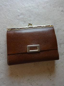Porte monnaie cuir marron 70's