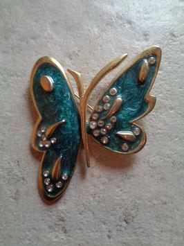 Broche papillon strass