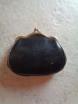 Porte monnaie cuir noir 50's