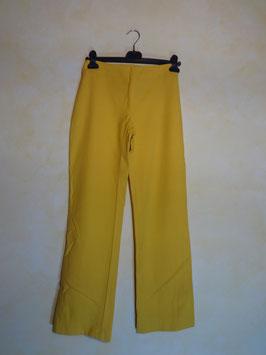 Pantalon jaune pattes d'éléphant 70's T.36