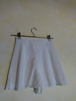 Jupe culotte soie blanche 50's T.36