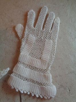 Gants crochet blancs 40's