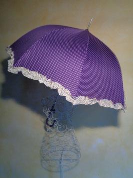 Parapluie à pois violet