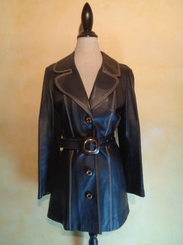 Trench cuir 70's T.38