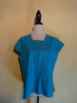 Top turquoise 90's T.40