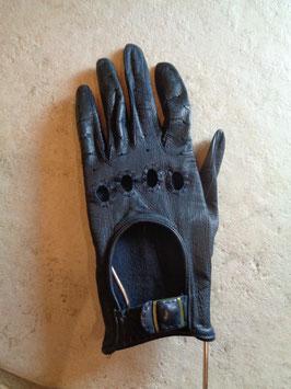 Gants d'automobiliste cuir noir