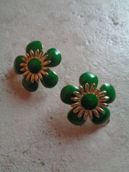 Clips fleurs vertes