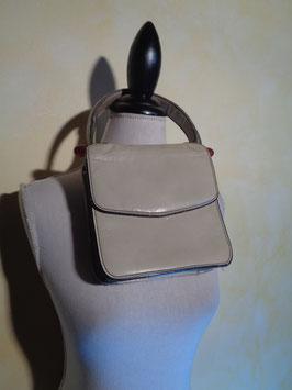 Pochette cuir blanc 60's