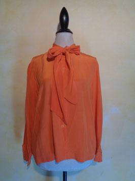 Chemise lavallière orange 70's T.42