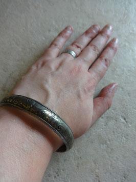 Bracelet fleur argenté