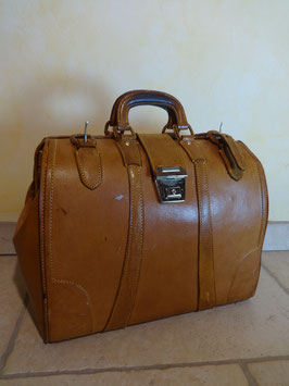 Doctor's bag cuir 70's