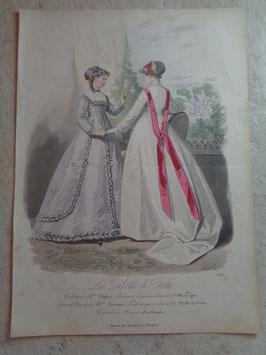 Gravure mode ingénues 19ème siècle