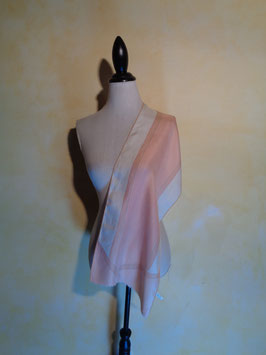 Foulard soie rose