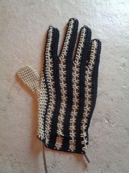 Gants crochet rayés
