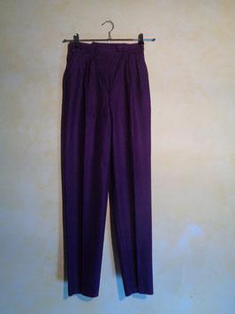 Pantalon laine violet 90's T.36