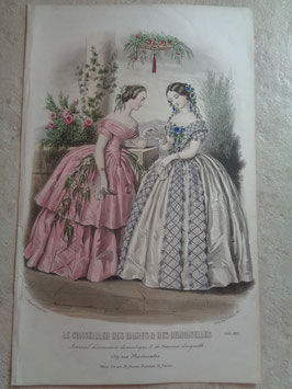 Gravure mode août 1855