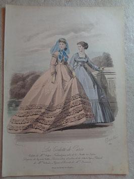 Gravure mode romantique 19ème