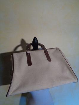 Doctor's bag cuir et tissu