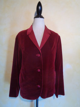Veste velours bordeau 70's T.38