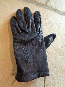 Gants cuir noirs 70's