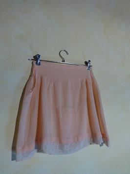 Jupe culotte soie rose 50's T.36