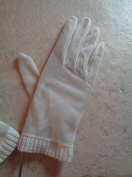 Gants blancs 60's