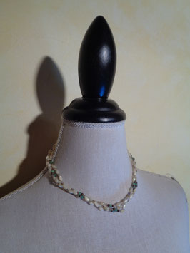 Collier perles multirangs