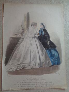 Gravure mariée 19ème siècle