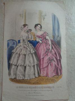 Gravure mode janvier 1854