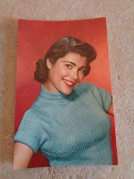 Carte postale Pin up sourire 60's