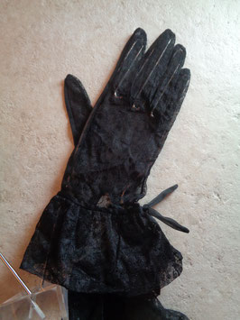 Gants noirs dentelle 50's