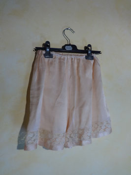 Shorty soie rose 50's T.36