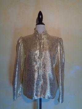 Chemise dorée 80's T.40