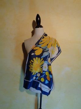 Foulard soie fleuri 70's
