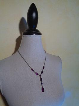 Collier perles violettes