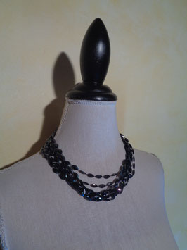 Collier multirang perles