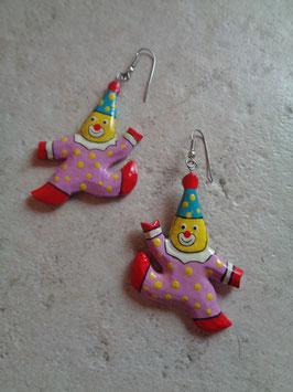 Boucles d'oreilles clown