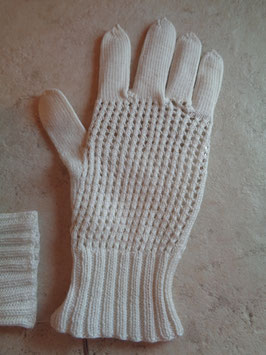 Gants blancs crochet